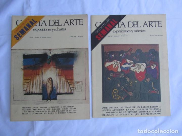 Coleccionismo de Revistas y Periódicos: 33 revistas Gazeta del Arte, años 70 - Foto 19 - 181154053