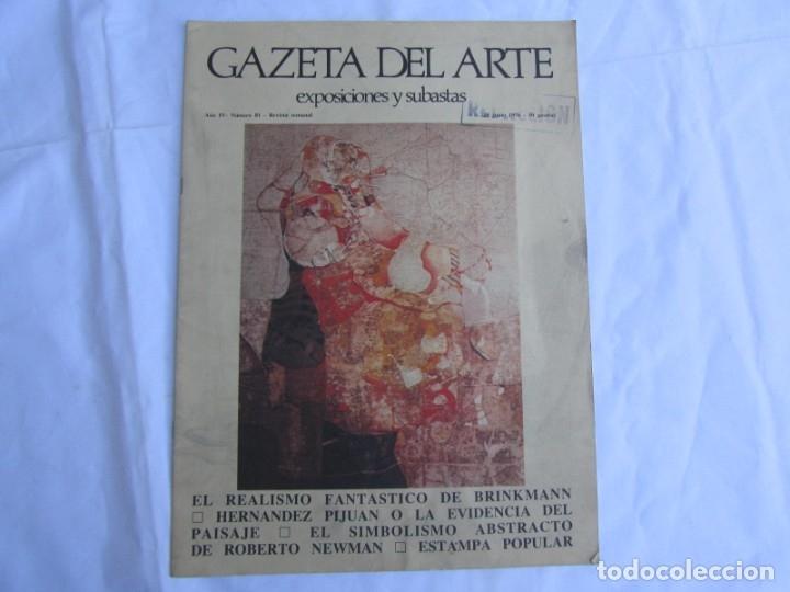 Coleccionismo de Revistas y Periódicos: 33 revistas Gazeta del Arte, años 70 - Foto 20 - 181154053