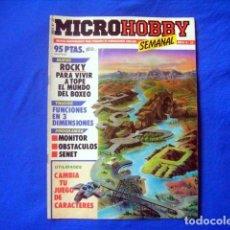 Coleccionismo de Revistas y Periódicos: REVISTA MICROHOBBY Nº 30 AÑO II SPECTRUM AMSTRAD MSX BASIC ROCKY SENET MICRO HOBBY . Lote 181199040
