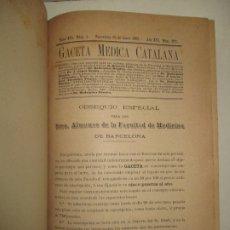Coleccionismo de Revistas y Periódicos: [REVISTA] GACETA MEDICA CATALANA. TOMO XVI. 1893.. Lote 181390743