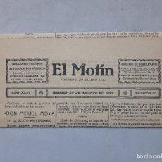 Collezionismo di Riviste e Giornali: EL MOTÍN. SEMANARIO POLÍTICO. MADRID, 28 DE AGOSTO DE 1926.. Lote 181397775