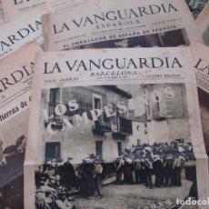 Coleccionismo de Revistas y Periódicos: COLECCIÓN DE 10 DIARIOS PERIÓDICOS LA VANGUARDIA - REPÚBLICA GUERRA CIVIL 1933 1939 - SALIDA 0,01€. Lote 181406255