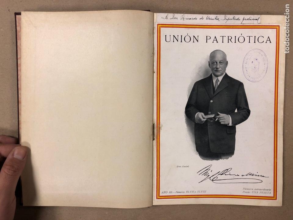 Coleccionismo de Revistas y Periódicos: UNIÓN PATRIÓTICA AÑO III N° 47 y 48 (1928). ESPECIAL MIGUEL PRIMO DE RIVERA Y ORBANEJA. ENCUADERNADO - Foto 2 - 181415508