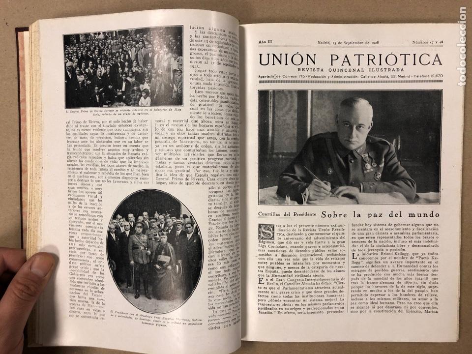 Coleccionismo de Revistas y Periódicos: UNIÓN PATRIÓTICA AÑO III N° 47 y 48 (1928). ESPECIAL MIGUEL PRIMO DE RIVERA Y ORBANEJA. ENCUADERNADO - Foto 6 - 181415508