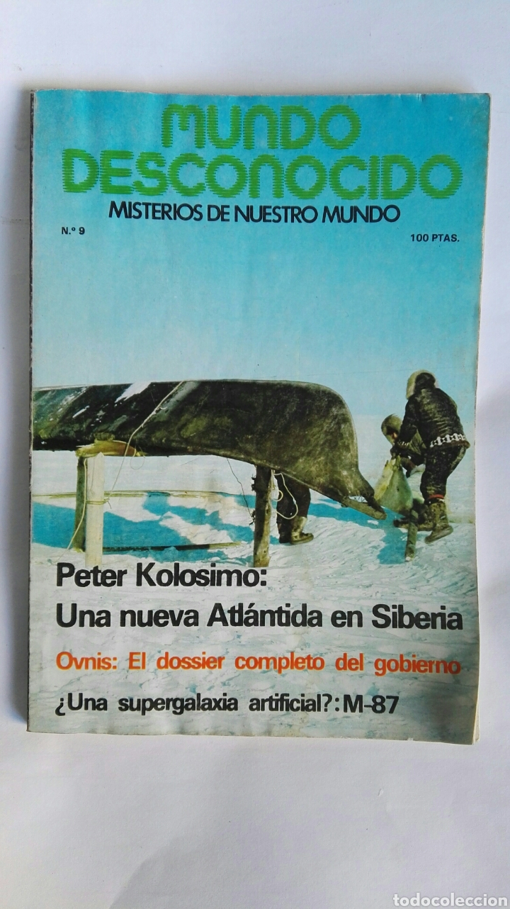 REVISTA MUNDO DESCONOCIDO N° 9 (Coleccionismo - Revistas y Periódicos Modernos (a partir de 1.940) - Otros)