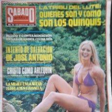Coleccionismo de Revistas y Periódicos: SÁBADO GRÁFICO 1972 FALANGE SALVAR A JOSÉ ANTONIO. QUINQUIS. Lote 181450581