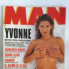 Coleccionismo de Revistas y Periódicos: REVISTA MAN YVONNE REYES 1995 CON PÓSTER. Lote 181452231