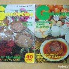 Coleccionismo de Revistas y Periódicos: LOTE 2 REVISTAS GUIACOCINA (AÑOS 80) NOS. 24 Y 29. Lote 181475493