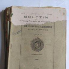 Coleccionismo de Revistas y Periódicos: 18 BOLETINES COMISIÓN PROVINCIAL DE MONUMENTOS DE ORENSE. TOMO IX COMPLETO, 1930 - 32. GALICIA.. Lote 181480342