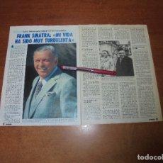 Coleccionismo de Revistas y Periódicos: CLIPPING 1986: FRANK SINATRA. Lote 181525057