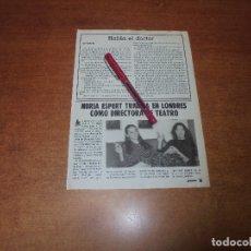 Coleccionismo de Revistas y Periódicos: CLIPPING 1986: NURIA ESPERT. Lote 181525478