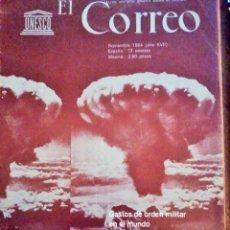 Coleccionismo de Revistas y Periódicos: GASTOS MILITARES EN EL MUNDO. CORREO DE LA UNESCO. NOVIEMBRE 1.964. Lote 181596503