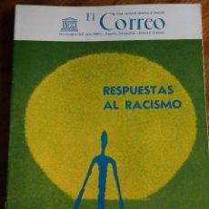 Coleccionismo de Revistas y Periódicos: RESPUESTAS AL RACISMO. CORREO DE LA UNESCO. NOVIEMBRE 1.971. Lote 181862593