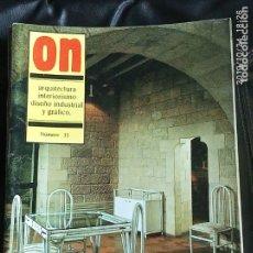 Coleccionismo de Revistas y Periódicos: REVISTA DE DISEÑO ON NÚMERO 35. Lote 181868978