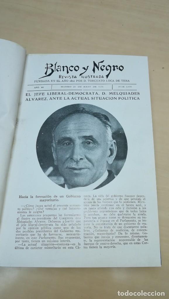 REVISTAS ILUSTRADAS BLANCO NEGRO. LOTE 18 REVISTAS ENCUADERNADAS (Coleccionismo - Revistas y Periódicos Antiguos (hasta 1.939))