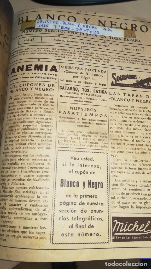 Coleccionismo de Revistas y Periódicos: REVISTAS ILUSTRADAS BLANCO NEGRO. LOTE 18 REVISTAS ENCUADERNADAS - Foto 3 - 181999522
