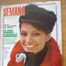 Coleccionismo de Revistas y Periódicos: SEMANA Nº 1524 - AÑO 1969 - CLAUDIA CARDINALE, SARA MONTIEL, MARQUES VILLAVERDE, LAURA VALENZUELA,... Lote 182213680
