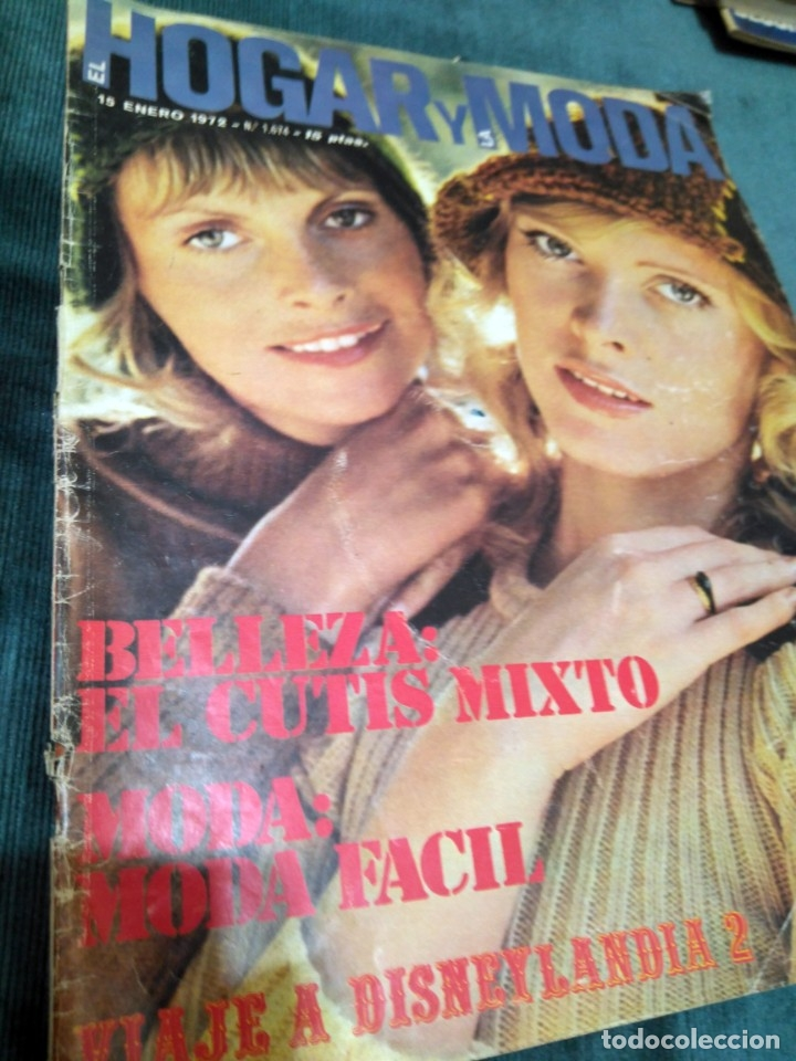 EL HOGAR Y LA MODA. BELLEZA Y MODA ENERO 1972 (Coleccionismo - Revistas y Periódicos Modernos (a partir de 1.940) - Otros)