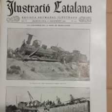 Coleccionismo de Revistas y Periódicos: ILUSTRACIO CATALANA Nº235 1907 FOTOS CATASTROFE RIUDECANYES(CAMBRILS)-SANT SADURNI GELIDA. Lote 182270818