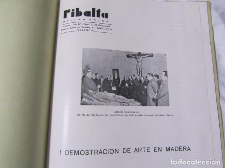 Coleccionismo de Revistas y Periódicos: REvista Ribalta bellas artes nº 27-28 I Demostración de Arte en madera - Foto 5 - 182320535