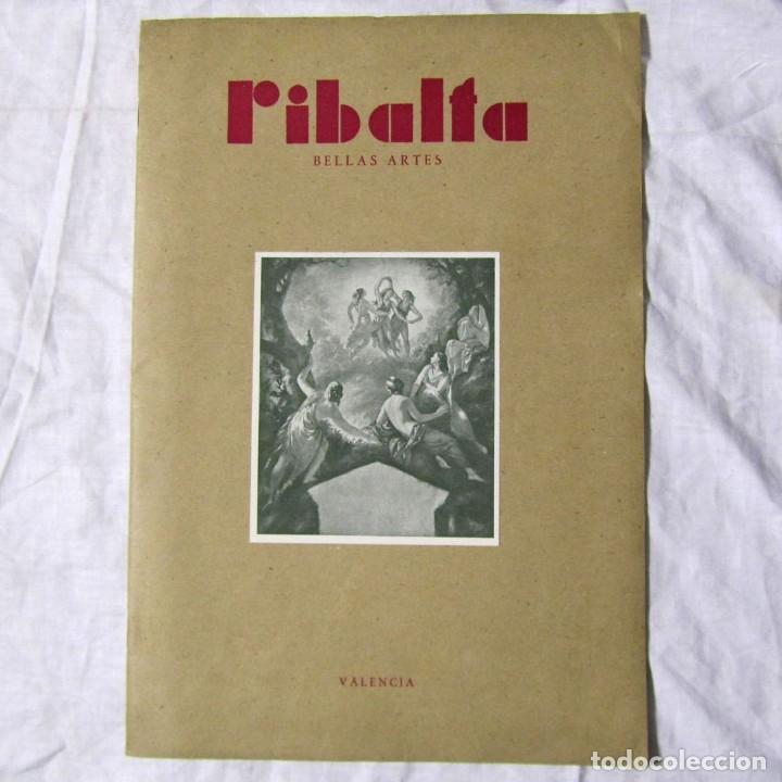 REVISTA RIBALTA BELLAS ARTES Nº 38 1947 VALENCIA (Coleccionismo - Revistas y Periódicos Modernos (a partir de 1.940) - Otros)