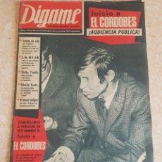 Coleccionismo de Revistas y Periódicos: ROTATIVO GRÁFICO SEMANAL DÍGAME AÑO 1967 JUICIO AL CORDOBÉS. Lote 182359126
