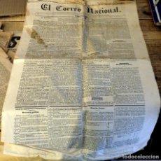 Coleccionismo de Revistas y Periódicos: MADRID, 1838, EL CORREO NACIONAL, PROSPECTO, NUMERO 0, RARISIMO , 4 PAGINAS. Lote 182369700