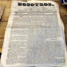 Coleccionismo de Revistas y Periódicos: MADRID, 27 DE JUNIO DE 1938, NOSOTROS, PERIODICO SATIRICO,POLITICO Y LITERARIO, RARISIMO, 4 PAGINAS. Lote 182370370
