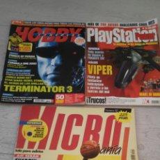 Coleccionismo de Revistas y Periódicos: LOTE 3 REVISTAS 1 HOBBY N. 143 1 PLAY STATION N. 15 1 MICRO MANIA N. 59. Lote 182381890