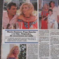 Coleccionismo de Revistas y Periódicos: RECORTE REVISTA SEMANA Nº 2692 1991 MARÍA JIMENEZ, PEPE SANCHO. Lote 182382935
