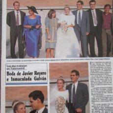 Coleccionismo de Revistas y Periódicos: RECORTE REVISTA SEMANA Nº 2692 1991 JAVIER REYERO E INMACULADA GALVAN, OLIVIA Y ANGELA MOLINA . Lote 182383006