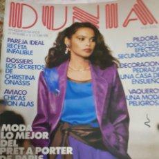 Coleccionismo de Revistas y Periódicos: REVISTA DUNIA 10/1978 MODA LO MEJOR DE PARIS.CHALECOS Y JERSEY. COSMETICA.MARK SPITZ. Lote 182436286