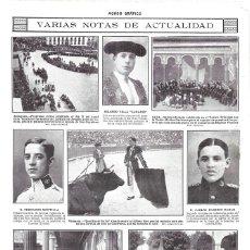 Coleccionismo de Revistas y Periódicos: 1914 HOJA REVISTA VALLADOLID JURA DE BANDERA ALUMNOS ACADEMIA DE CABALLERÍA. Lote 182487737