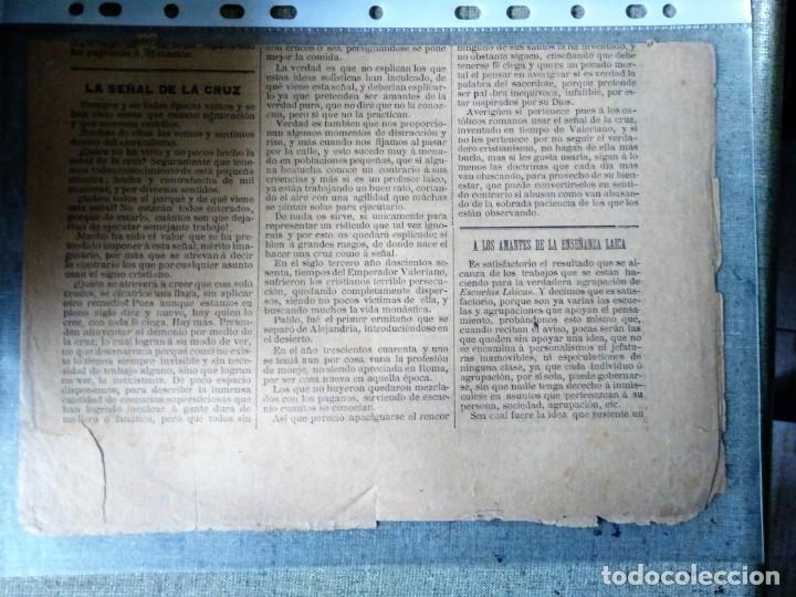 Coleccionismo de Revistas y Periódicos: PERIODICO EL VICTOR HUGO 1888 BARCELONA N 3 - Foto 2 - 182515656