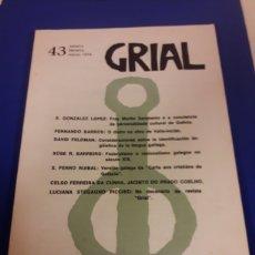 Coleccionismo de Revistas y Periódicos: GRIAL EDITORIAL GSLAXIA VIGO REVIST DE CULTURA. Lote 182547648
