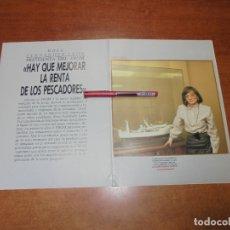 Coleccionismo de Revistas y Periódicos: RETAL 1988: ENTREVISTA A LA SECRETARIA DEL FROM ROSA FERNÁNDEZ LEÓN - PUBLICIDAD SITELSA.. Lote 182547661