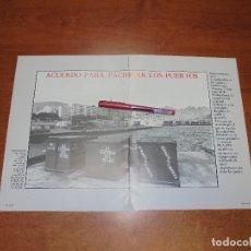 Coleccionismo de Revistas y Periódicos: RETAL 1988: ACUERDO SALARIAL PUERTOS. FOTO PUERTO S.C. TENERIFE. PUBLICIDAD TELEFÓNICA SERVICIO MARÍ. Lote 182548341