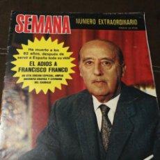 Coleccionismo de Revistas y Periódicos: REVISTA SEMANA 1975, NÚMERO EXTRAORDINARIO,AMPLIA BIOGRAFÍA GRÁFICA Y LITERARIA DEL DICTADOR FRANCO. Lote 182548440