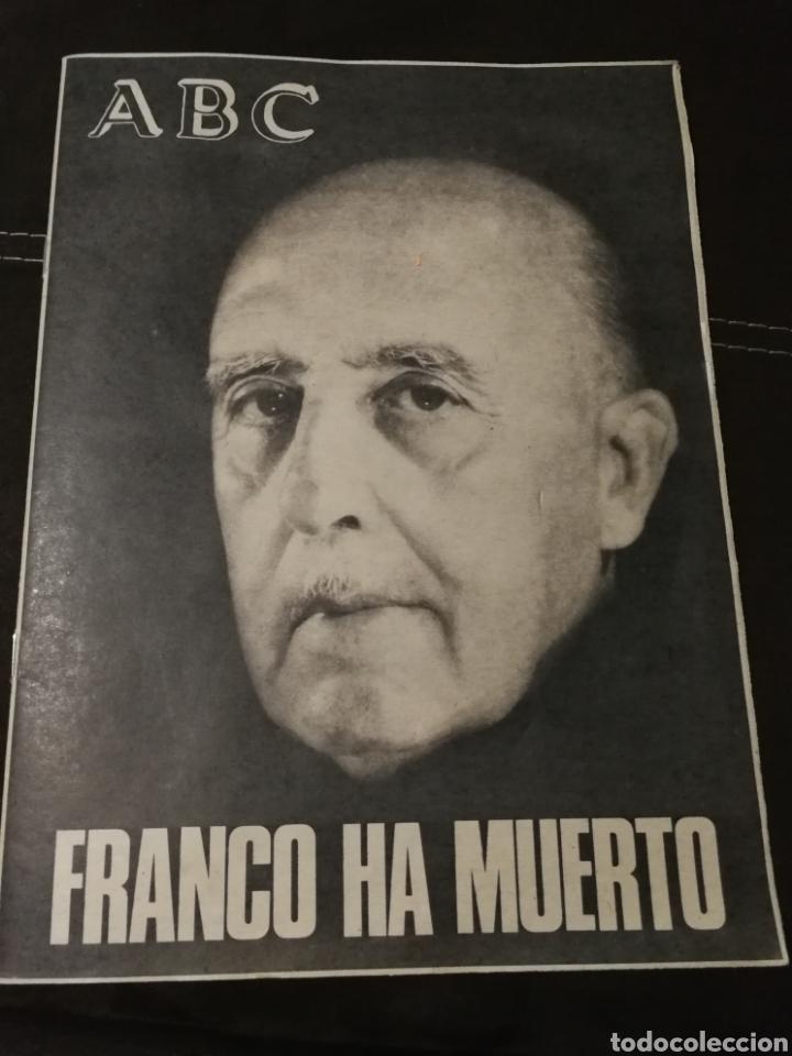 Coleccionismo de Revistas y Periódicos: LOTE PERIÓDICO ABC FRANCO A MUERTO - Foto 2 - 182549631
