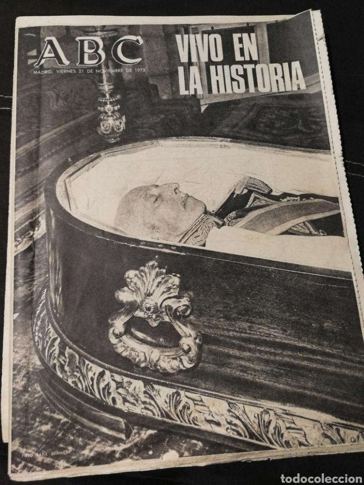 Coleccionismo de Revistas y Periódicos: LOTE PERIÓDICO ABC FRANCO A MUERTO - Foto 6 - 182549631