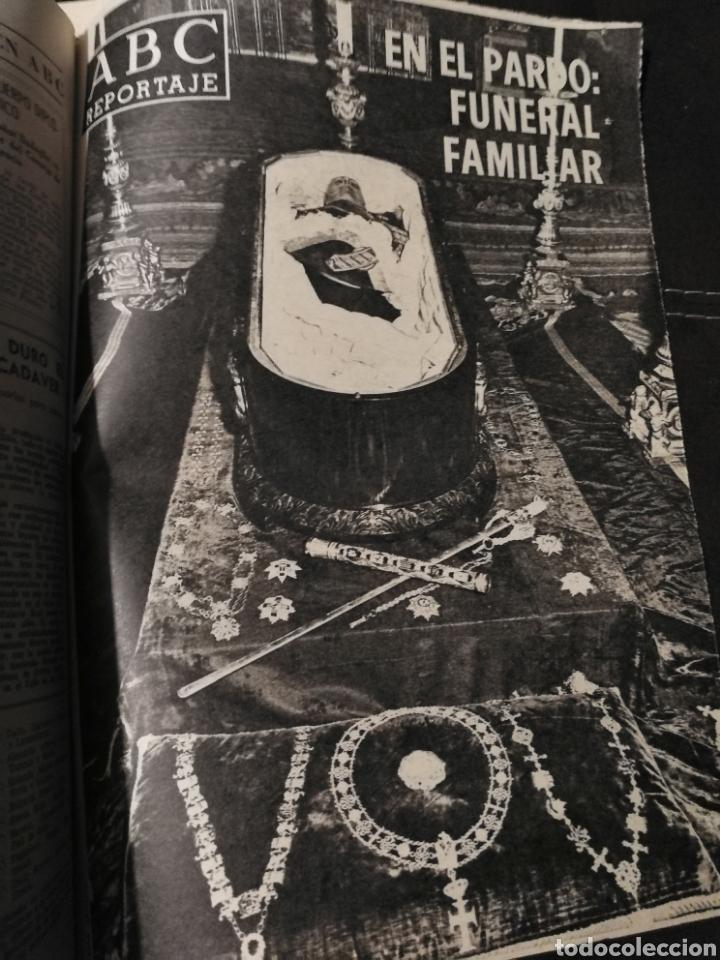 Coleccionismo de Revistas y Periódicos: LOTE PERIÓDICO ABC FRANCO A MUERTO - Foto 7 - 182549631