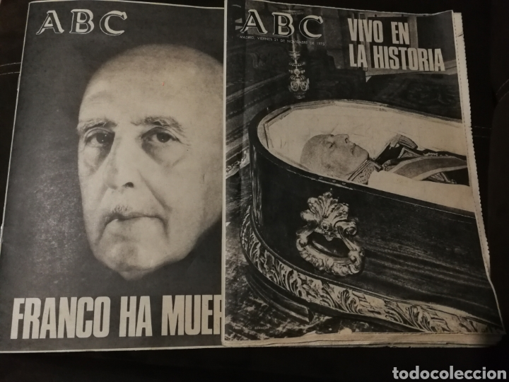 LOTE PERIÓDICO ABC FRANCO A MUERTO (Coleccionismo - Revistas y Periódicos Modernos (a partir de 1.940) - Otros)