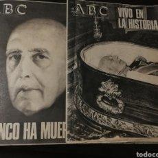 Coleccionismo de Revistas y Periódicos: LOTE PERIÓDICO ABC FRANCO A MUERTO. Lote 182549631