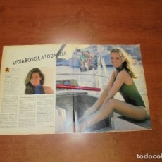 Coleccionismo de Revistas y Periódicos: CLIPPING 1987: LYDIA BOSCH (EX AZAFATA CONTABLE DE UN, DOS, TRES...). Lote 182552062