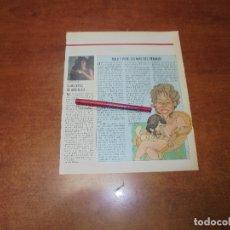 Coleccionismo de Revistas y Periódicos: CLIPPING 1987: ANGELICA HUSTON - MILA XIMENEZ Y PEPE. Lote 182552093