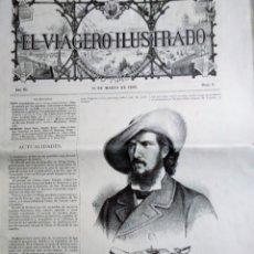 Coleccionismo de Revistas y Periódicos: EL VIAGERO ILUSTRADO 1880 N 5 SERPA PINTO EN CUBIERTA AÑO III 15 DE MARZO DE 1880. Lote 182609520