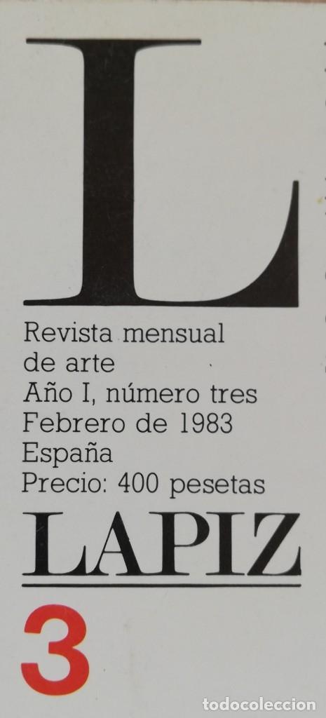 Coleccionismo de Revistas y Periódicos: Lápiz, revista mensual de arte n 3 - Feb 1983 - Foto 2 - 182664270