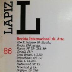 Coleccionismo de Revistas y Periódicos: RAMÓN DE SOTO, CATTELAN, BROODTHAERS, LÁPIZ, REVISTA INTERNACIONAL DE ARTE. N-86 ABRIL-MAYO 1992. Lote 182671836
