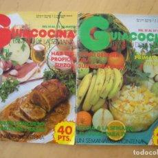 Coleccionismo de Revistas y Periódicos: LOTE 2 REVISTAS GUIACOCINA (AÑOS 80) NOS. 28 Y 36. Lote 182680807