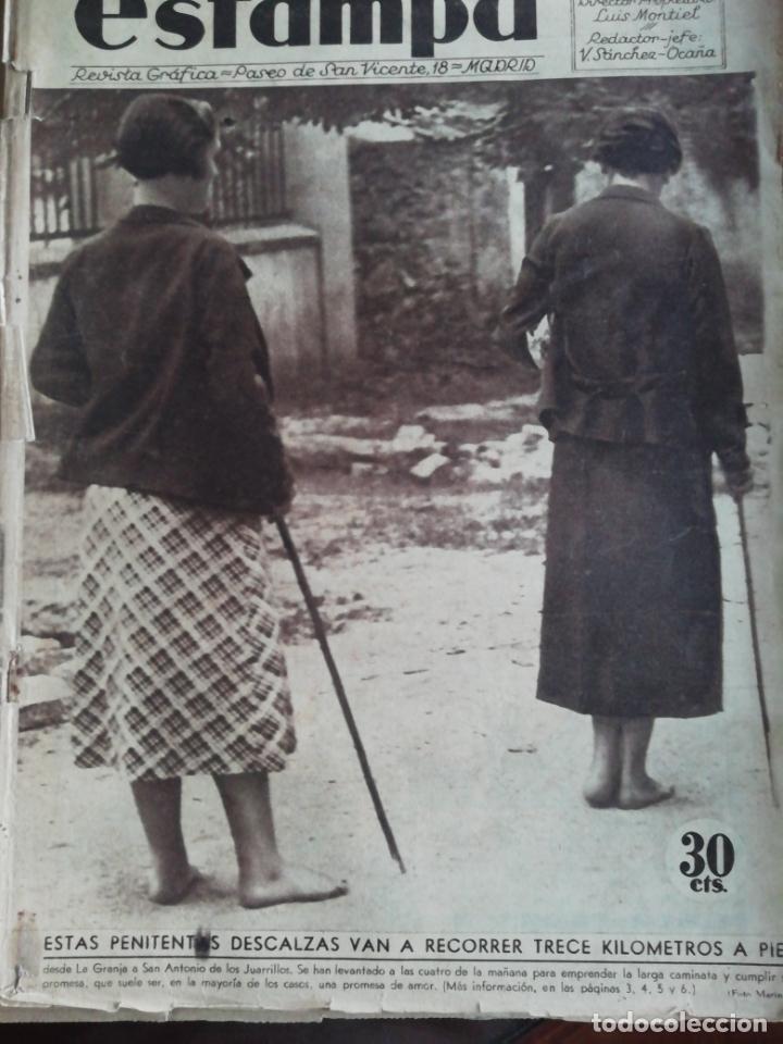 REVISTA ESTAMPA 1934 LAS PENITENTAS DE SAN JUAN ANTONIO DE LOS JUARRILLOS(SEGOVIA) (Coleccionismo - Revistas y Periódicos Antiguos (hasta 1.939))